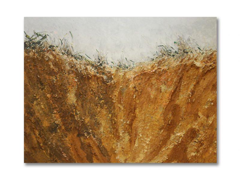 John J Bedoya - Earth, sand, and acrylic 19 - 45.25 x 59